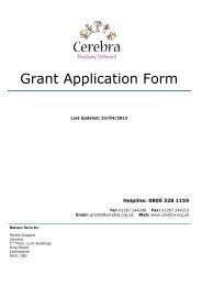 Grant Application Form - Cerebra