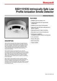 SSD1151EIS Intrinsically Safe Low Profile Ionization Smoke Detector
