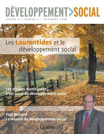 Les Laurentides et le - Agence de la santé et des services sociaux ...