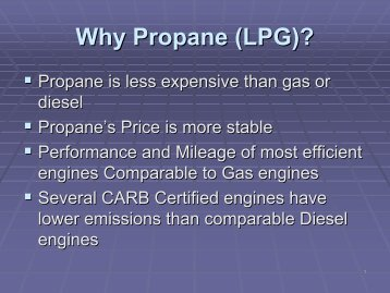Why Propane (LPG)? - Low Carbon Fuels Conference Series