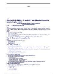 Opatření číslo 5/2008 - Organizační řád ... - Filozofická fakulta
