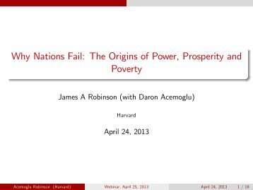 Why Nations Fail: The Origins of Power, Prosperity and ... - CFO Insight