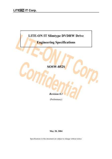 SLIMTYPE DVDRW SOSW 852S DRIVERS PC