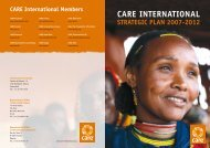 Care InternatIonal StrategIC Plan 2007-2012 - GiveWell