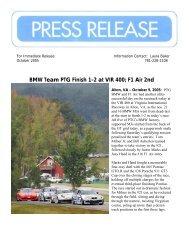 BMW Team PTG Finish 1-2 at VIR 400; F1 Air 2nd - RJ Valentine ...