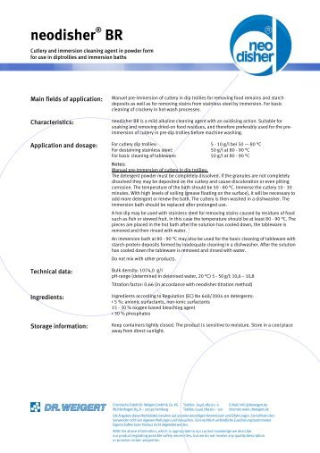 neodisher BR - Multi Medical Service