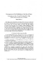 Consequences of the Prohibition of the Use of Force - Zeitschrift für ...