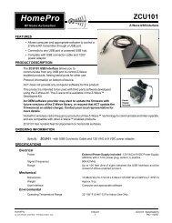 Specification and Installation Manual (558.2k) - SmartHomeUSA.com