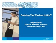 Enabling The Wireless Utility - Critical Facilities Round Table