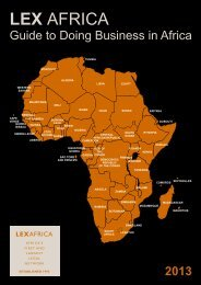 LEX Africa's 'Guide to Doing Business'