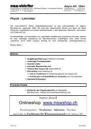 Info zum Verkaufskonzept - msw-onlineshop