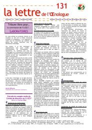 Lettre OEnologue 131 - Union des oenologues de France