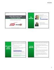 2013 IRS Practice and Procedure Update - SmartPros Accounting