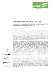 Erdgas Showcar - der Opel Corsa D 1.6 CNG feiert ... - Erdgasfahren