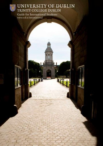 Guide for International Students - Trinity College Dublin