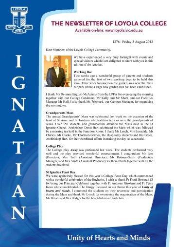 1276: Friday 3 August 2012 - Loyola College