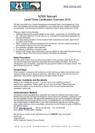 NZSIA Telemark Level Three Certification Overview 2010