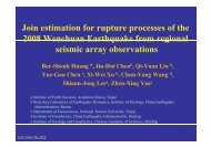 Join estimation for rupture processes of the 2008 ... - Academia Sinica