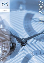 Jahresbericht 2007 - Federation of the Swiss Watch Industry FH
