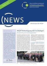 WiGeP News 2/2013