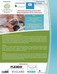 2013 Patient & Family Centered NICU Call for Submissions