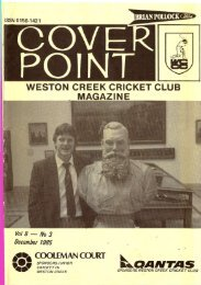 08-03-Dec1985 - Weston Creek Cricket Club