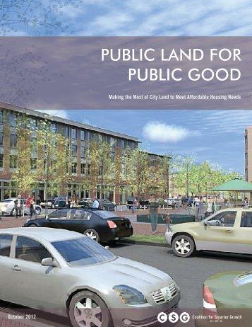 public land for public good - Comprehensive Housing Strategy Task ...