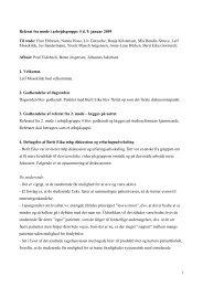 1 Referat fra møde i arbejdsgruppe 4 d. 9. januar 2009 Til stede ...