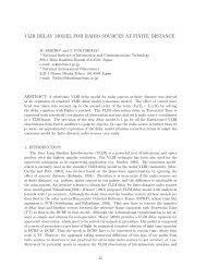 VLBI delay model for radio sources at finite distance - SYRTE