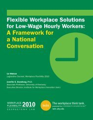 Flexible Workplace Solutions for Low-Wage Hourly Workers