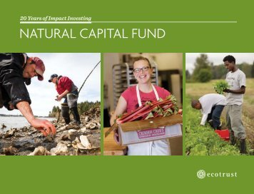 NAturAl CAPitAl FuNd - Ecotrust