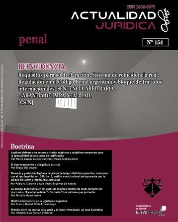 REINCIDENCIA. - Actualidad Jurídica