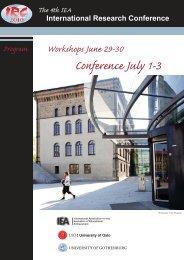 Conference program - IEA