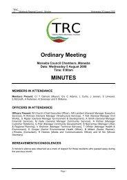 5 August 2009 - Tablelands Regional Council - Queensland ...