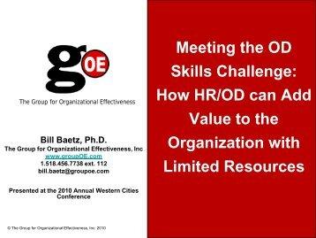 Meeting the Organizational Development Skills Challenge
