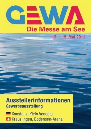 12. – 15. Mai 2011 Ausstellerinformationen - GEWA-Messe