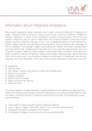 Information about Histamine Intolerance