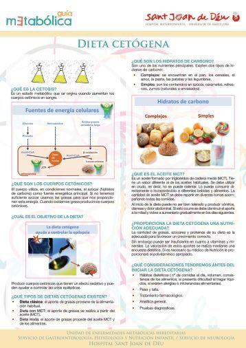 Hoja informativa sobre la dieta cetogénica