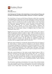 Joint Statement by President of the United States of America Barack ...