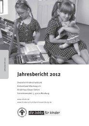 Jahresbericht 2012 - Deutscher Kinderschutzbund Kreisverband ...