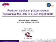 Precision studies of proton-nucleus collisions at the ... - After - IN2P3