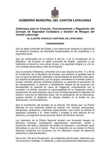 GOBIERNO MUNICIPAL DEL CANTON LATACUNGA
