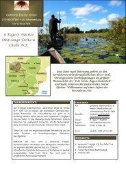 Tourbeschreibung als PDF - Afrika à la Carte Reisen