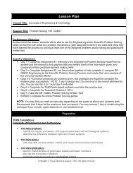 Lesson Documents - Career and Technical Education