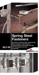 Cooper B-Line - Spring Steel Fasteners - Dixie Construction Products
