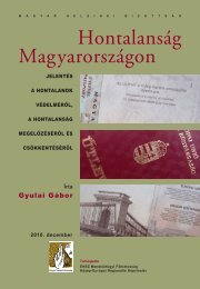 Hontalanság Magyarországon - Magyar Helsinki Bizottság