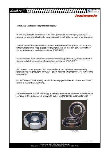 Italmatic Comfort C1 superelastic tyres - Zsolaka Kft