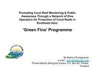 'Green Fins' Programme - International Coral Reef Initiative