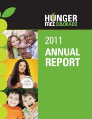 Annual Report - Hunger Free Colorado