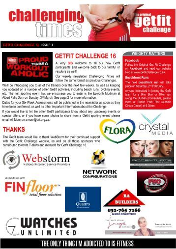 GFC 16 Issue 1 - The Original GETFIT Challenge